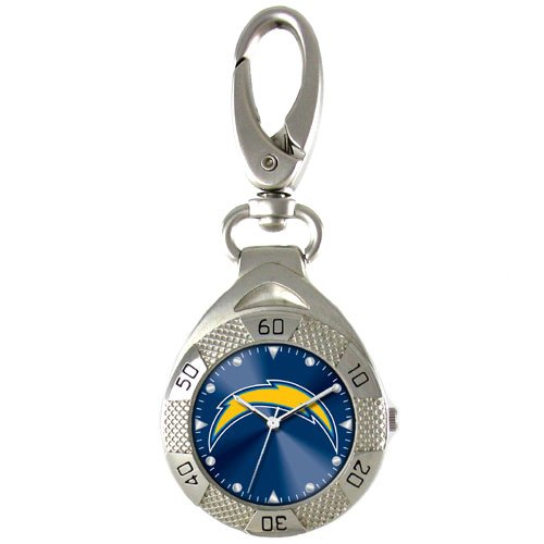 GAME TIME  SAN DIEGO CHARGERS CLIP ON WATCH GRANDSTAND SERIES FREE SHIPPING LIFETIME WARRANTY