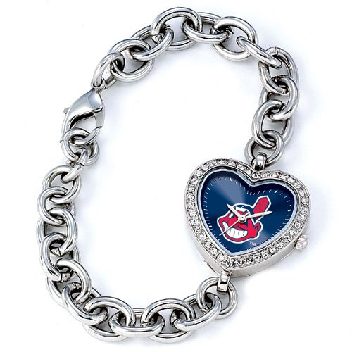 GAME TIME  CLEVELAND INDIANS HEART WATCH FREE SHIPPING LIFETIME WARRANTY