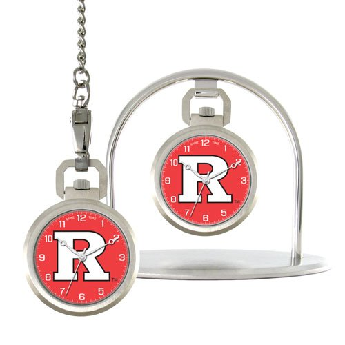 GAME TIME  RUTGERS  SCARLET KNIGHTS POCKET  WATCH LIFETIME WARRANTY FREE SHIPPING