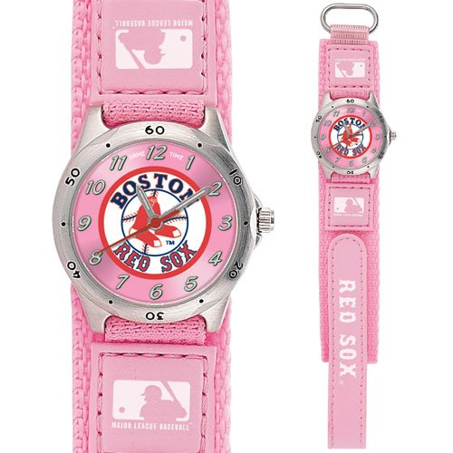 GAME TIME  BOSTON RED SOX (SOX LOGO) FUTURE STAR SERIES WATCH PINK  LIFETIME WARRANTY FREE SHIPPING