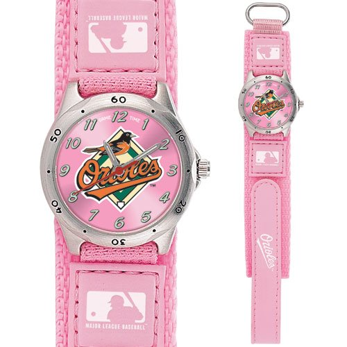 GAME TIME  BALTIMORE ORIOLES FUTURE STAR SERIES WATCH PINK LIFETIME WARRANTY FREE SHIPPING