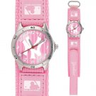 GAME TIME  NEW YORK  YANKEES PINSTRIPE FUTURE STAR SERIES WATCH PINK LIFETIME WARRANTY FREE SHIPPING