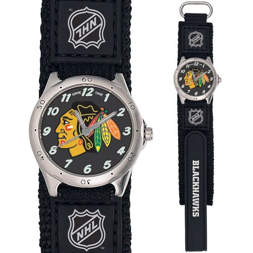 GAME TIME  CHICAGO BLACKHAWKS FUTURE STAR SERIES WATCH LIFETIME WARRANTY FREE SHIPPING