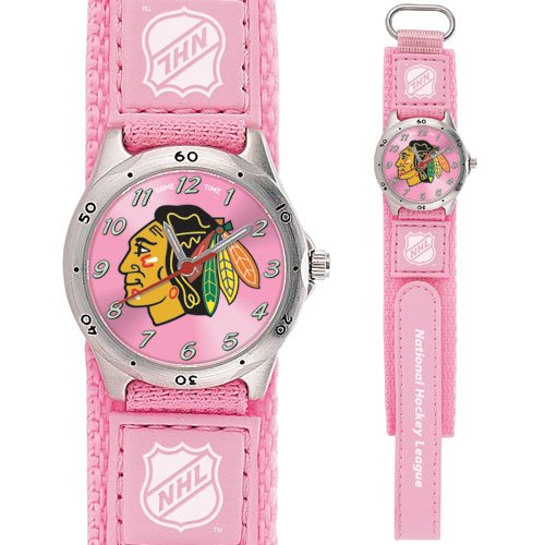 GAME TIME  CHICAGO BLACKHAWKS FUTURE STAR SERIES WATCH PINK LIFETIME WARRANTY FREE SHIPPING