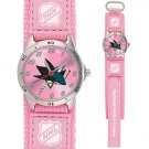 GAME TIME  SAN JOSE SHARKS FUTURE STAR SERIES WATCH PINK LIFETIME WARRANTY FREE SHIPPING