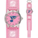 GAME TIME  ST. LOUIS BLUES FUTURE STAR SERIES WATCH PINK LIFETIME WARRANTY FREE SHIPPING
