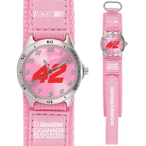 GAME TIME  JUAN MONTOYA #42 FUTURE STAR SERIES WATCH PINK LIFETIME WARRANTY FREE SHIPPING