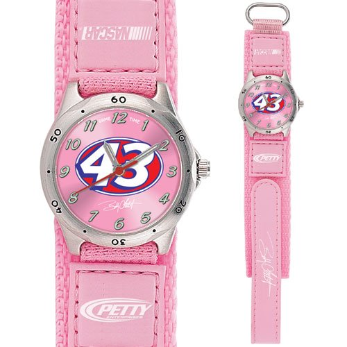 GAME TIME  BOBBY LABONTE #43 FUTURE STAR SERIES WATCH PINK LIFETIME WARRANTY FREE SHIPPING