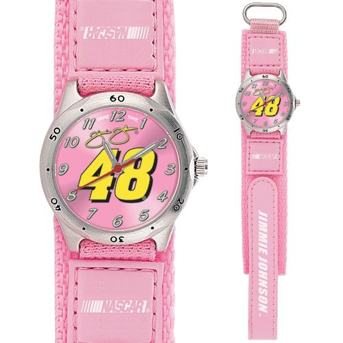 GAME TIME  JIMMIE JOHNSON #48 FUTURE STAR SERIES WATCH PINK LIFETIME WARRANTY FREE SHIPPING