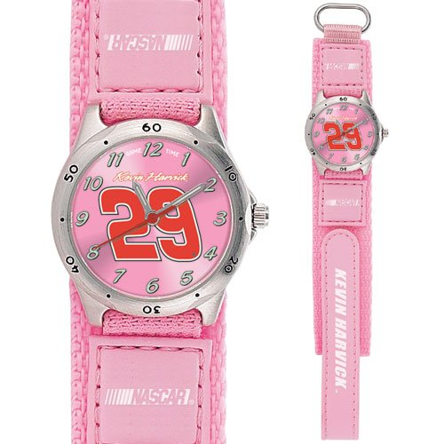 GAME TIME  #29 KEVIN HARVICK  FUTURE STAR SERIES WATCH PINK LIFETIME WARRANTY FREE SHIPPING