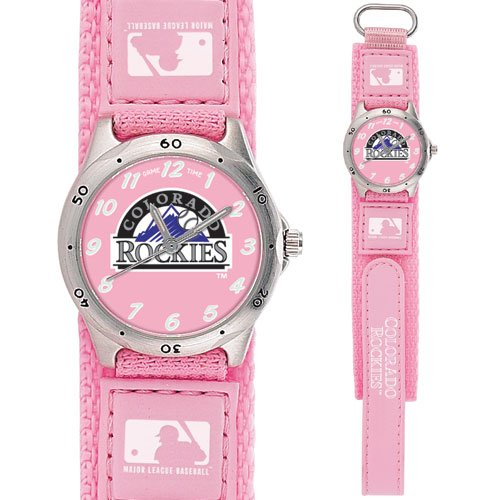 GAME TIME COLORADO ROCKIES FUTURE STAR SERIES WATCH PINK LIFETIME WARRANTY FREE SHIPPING