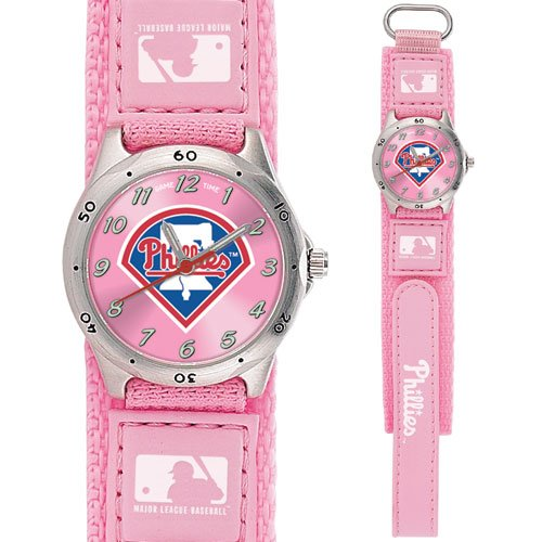 GAME TIME  PHILADELPHIA PHILLIES FUTURE STAR SERIES WATCH PINK LIFETIME WARRANTY FREE SHIPPING
