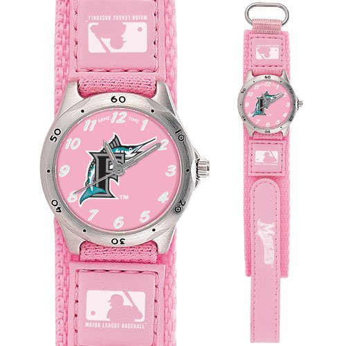 GAME TIME FLORIDA MARLINS FUTURE STAR SERIES WATCH PINK LIFETIME WARRANTY FREE SHIPPING