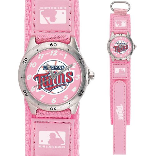 GAME TIME  MINNESOTA TWINS FUTURE STAR SERIES WATCH PINK LIFETIME WARRANTY FREE SHIPPING