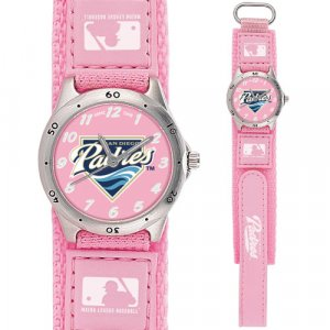 GAME TIME  SAN DIEGO PADRES FUTURE STAR SERIES WATCH PINK LIFETIME WARRANTY FREE SHIPPING