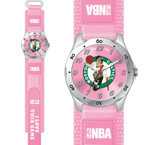 GAME TIME  BOSTON CELTICS FUTURE STAR SERIES WATCH PINK LIFETIME WARRANTY FREE SHIPPING