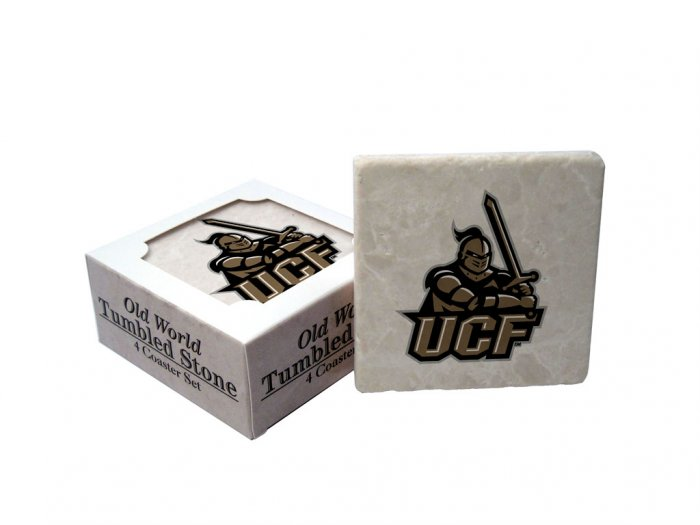CENTRAL FLORIDA KNIGHTS OLD WORLD TUMBLED STONE COASTER SET LIMITED EDITION FREE SHIPPING