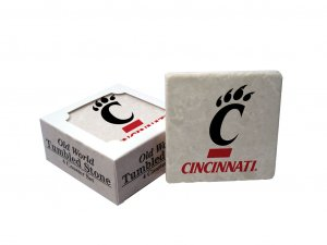 CINCINNATI BEARCATS OLD WORLD TUMBLED STONE COASTER SET LIMITED EDITION FREE SHIPPING