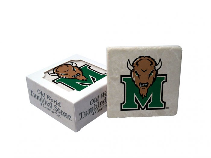 MARSHALL THUNDERING HERD OLD WORLD TUMBLED STONE COASTER SET LIMITED EDITION FREE SHIPPING