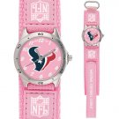 HOUSTON TEXANS FUTURE STAR SERIES PINK WATCH LIFETIME WARRANTY FREE SHIPPING