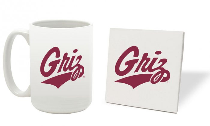 MONTANA GRIZZLIES 15 OUNCE CLASSIC COLLECTION LOGO SERIES MUG WITH MATCHING COASTER FREE SHIPPING