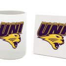 NORTHERN IOWA PANTHERS 15 OZ CLASSIC COLLECTION LOGO SERIES MUG WITH MATCHING COASTER FREE SHIPPING