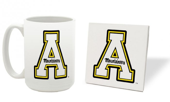 APPALACHIAN STATE MOUNTAINEERS 15 OZ CLASSIC COLLECTION LOGO SERIES MUG WITH COASTER FREE SHIPPING