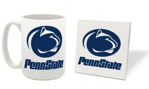 PENN STATE NITTANY LIONS 15 OZ CLASSIC COLLECTION LOGO SERIES MUG WITH COASTER FREE SHIPPING