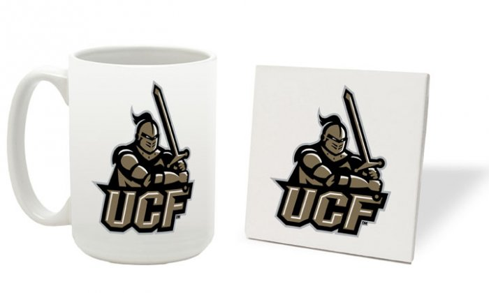 CENTRAL FLORIDA KNIGHTS 15 OZ CLASSIC COLLECTION LOGO SERIES MUG WITH MATCHING COASTER FREE SHIPPING
