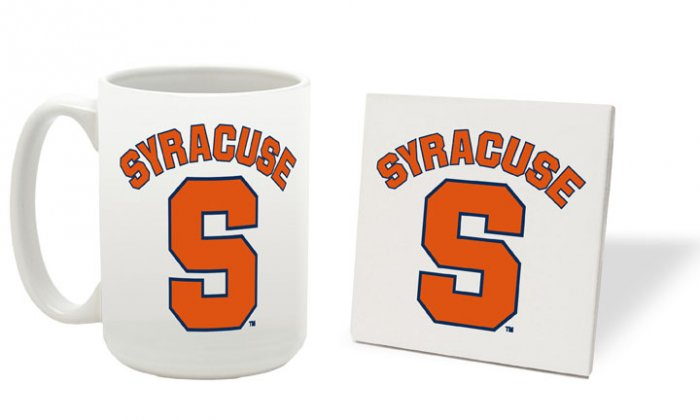 SYRACUSE ORANGEMEN 15 OUNCE CLASSIC COLLECTION LOGO SERIES MUG WITH MATCHING COASTER FREE SHIPPING