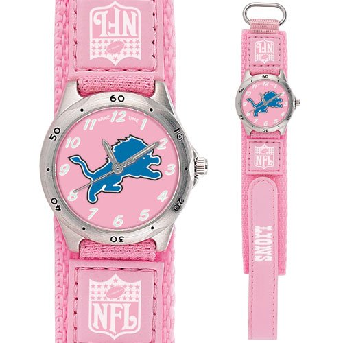 DETROIT LIONS FUTURE STAR SERIES PINK WATCH LIFETIME WARRANTY FREE SHIPPING
