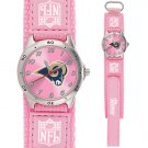 ST. LOUIS RAMS FUTURE STAR SERIES PINK WATCH LIFETIME WARRANTY FREE SHIPPING
