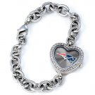 GAME TIME NEW ENGLAND PATRIOTS HEART WATCH  FREE SHIPPING LIFETIME WARRANTY