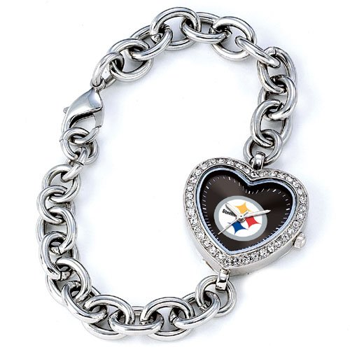 GAME TIME PITTSBURGH STEELERS HEART WATCH  FREE SHIPPING LIFETIME WARRANTY