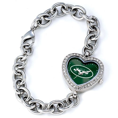 GAME TIME NEW YORK JETS HEART WATCH  FREE SHIPPING LIFETIME WARRANTY