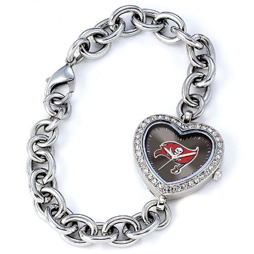 GAME TIME TAMPA BAY BUCCANEERS HEART WATCH  FREE SHIPPING LIFETIME WARRANTY