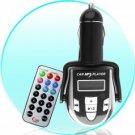 Wireless Car MP3 FM Modulator - USB + SD Card Digital Music