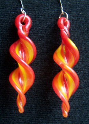 HAND BLOWN BORO ART GLASS EARRINGS BY JAMI