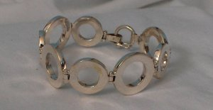 Circular Silver Bracelet - Peruvian Handcrafted with 100% Genuine Sterling Silver