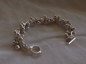 Silver Vine Bracelet - 100% Handcrafted from Genuine .950 Sterling Silver