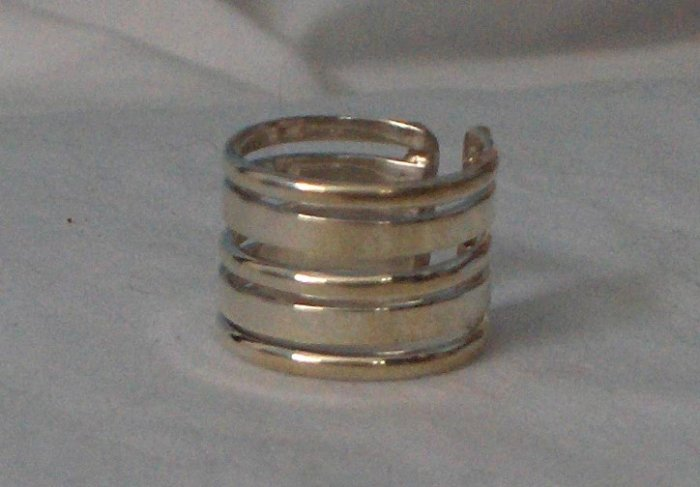 100% Guaranteed Genuine .950 Sterling Silver Adjustable Ring