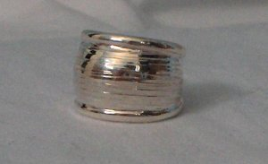 Handcrafted Genuine .950 Sterling Silver Ring