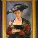 "Peter Paul Rubens – ""Portrait of Suzanne Lunden."""