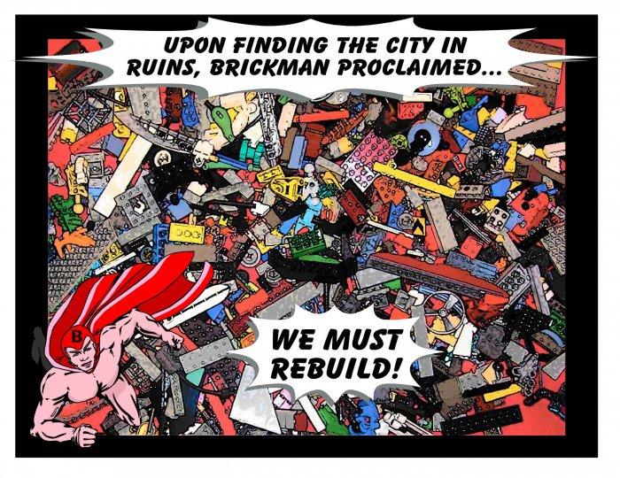 """""""Brickman"""" Comic-ish Iron on! Fun!!"""