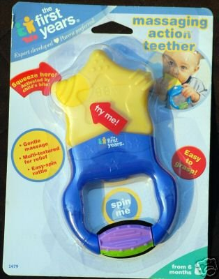 The first years vibrating star teether
