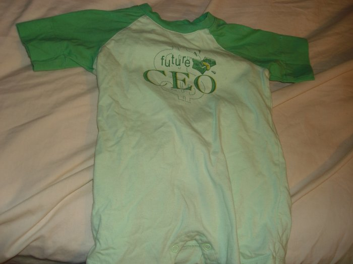 Future CEO summer one piece outfit for a boy 12-18M