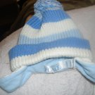 The Children's Place blue and white winter baby hat0-6m