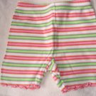 gymboree girls' striped summer capris 6-12 months