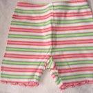 gymboree girls' striped summer capris 6-12 months