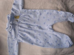 infant girls' blue classic pooh footed sleeper 3-6month